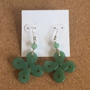 Jade Celtic Knot Drop Earrings
